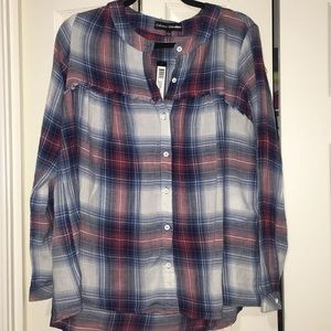 NWT Catherine Malandrino plaid button down